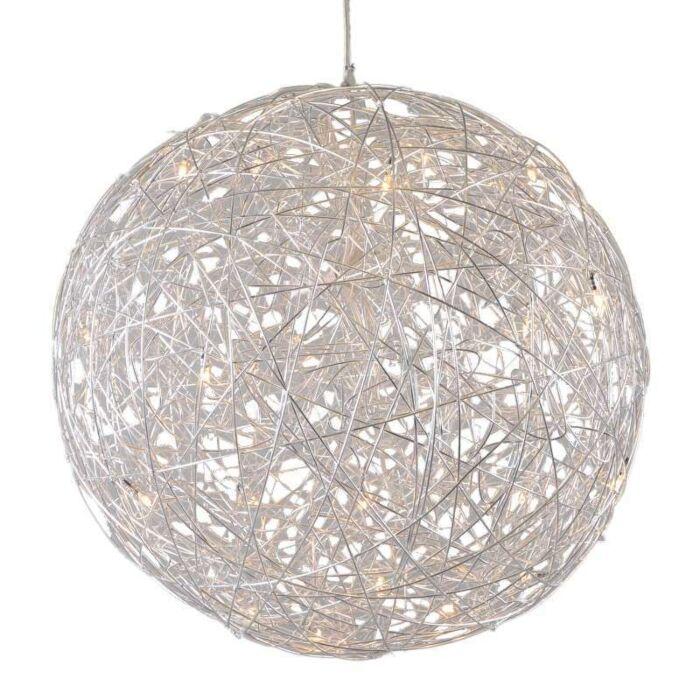 Lámpara-colgante-DRAHT-bola-80cm-aluminio