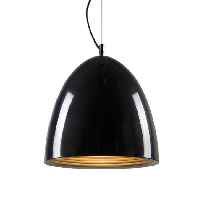 Lámpara-colgante-LEAF-negra