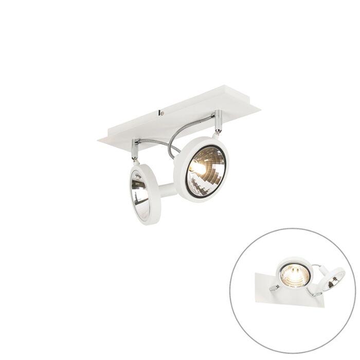 Plafón-diseño-blanco-2-luces-ajustable---NOX
