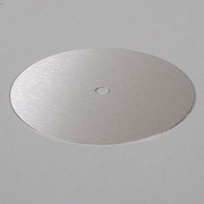 Lámina-ø13cm-acero-inoxidable-con-entradas-para-cable