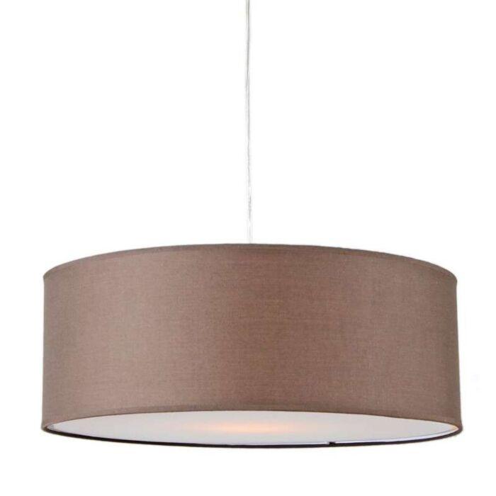 Lámpara-colgante-TAMBURO-50cm-marrón