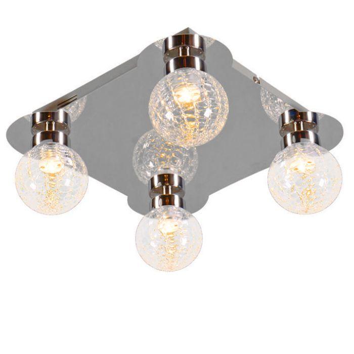 Plafón-ICE-4-LED-cromo