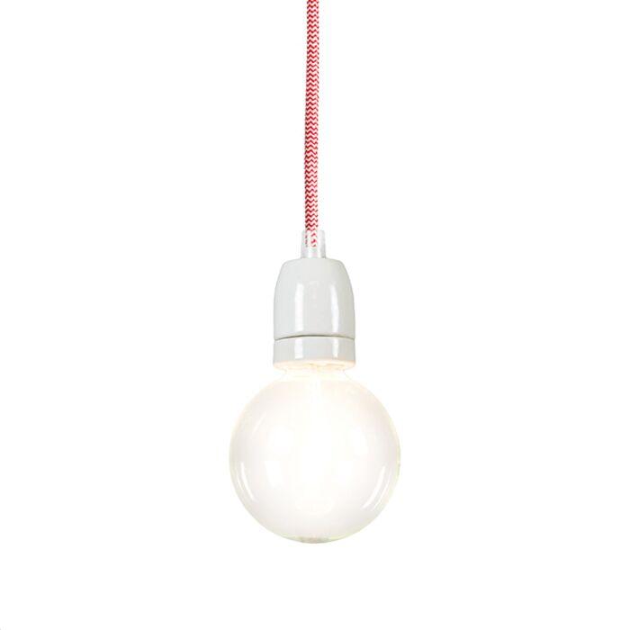 Lámpara-colgante-CAVO-Rojo/Blanco