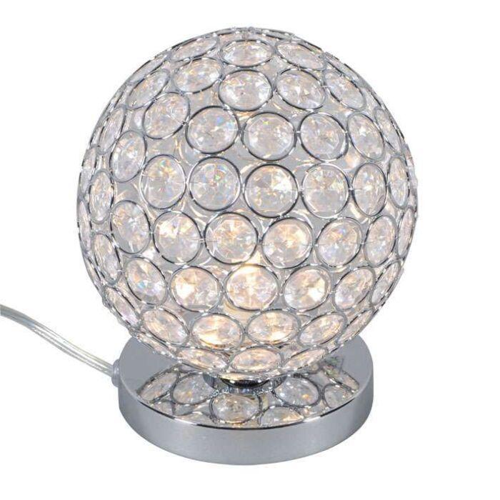 Lámpara-de-mesa-SFERA-1-cromo