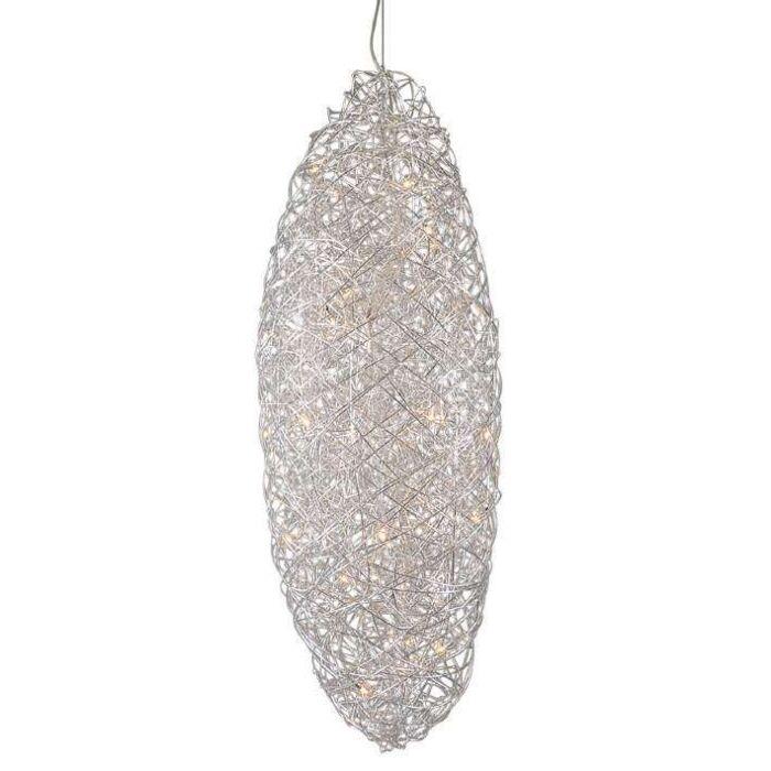 Lámpara-colgante-DRAHT-COCOON-aluminio