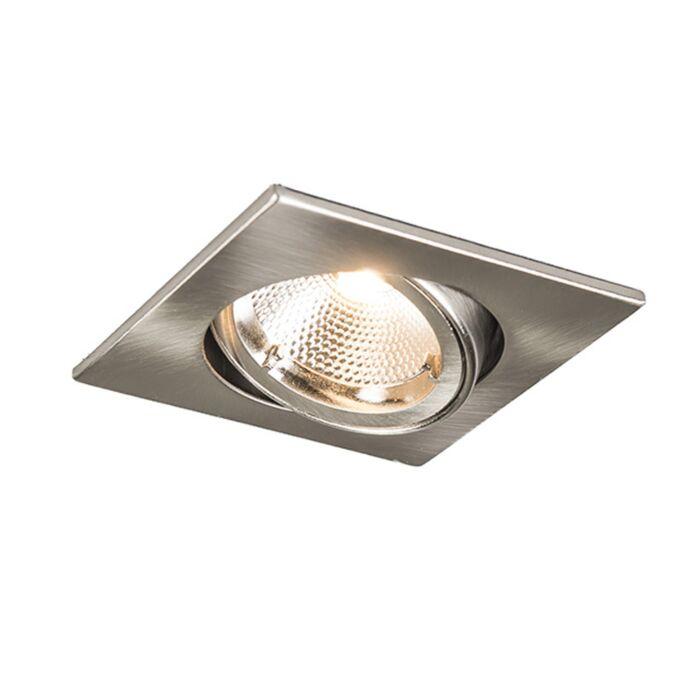 Foco-empotrado-SAFE-cuadrado-acero-LED-6W
