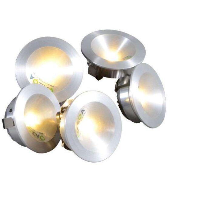 Foco-empotrados-NIEK-5-x-1W-LED-aluminio