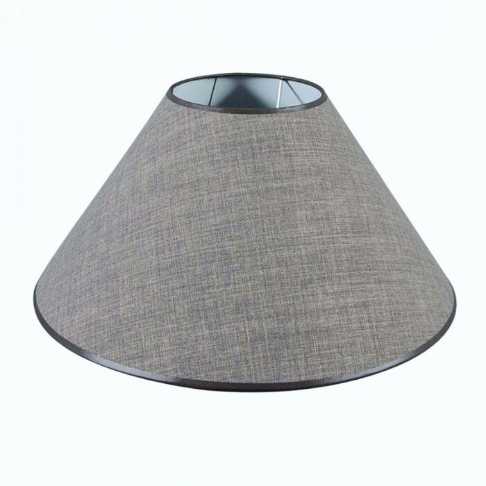 Pantalla-cónica-para-lámpara-de-pie/-mesa-50/17/25-marrón-gris