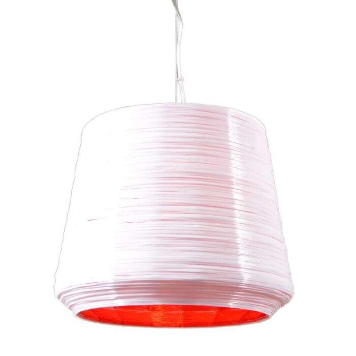 Lámpara-colgante-COMO-38-blanca/roja