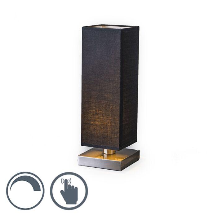 Lámpara-de-mesa-TOWER-táctil-negra