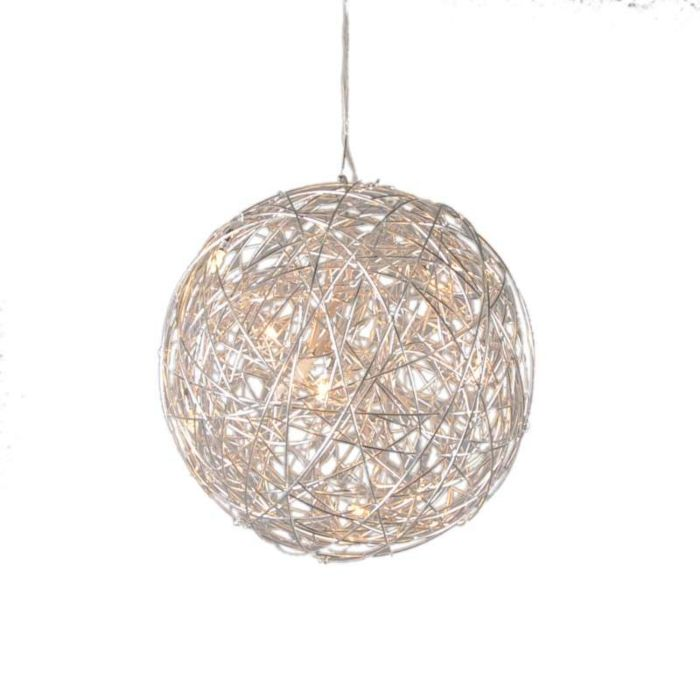 Lámpara-colgante-DRAHT-bola-40cm-aluminio
