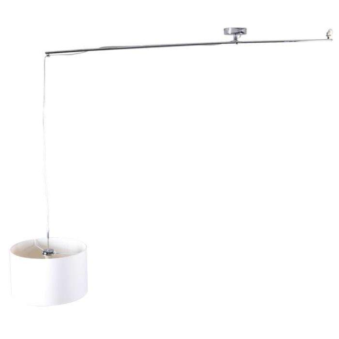 Lámpara-colgante-DECENTRA-Delux-cromo-con-pantalla