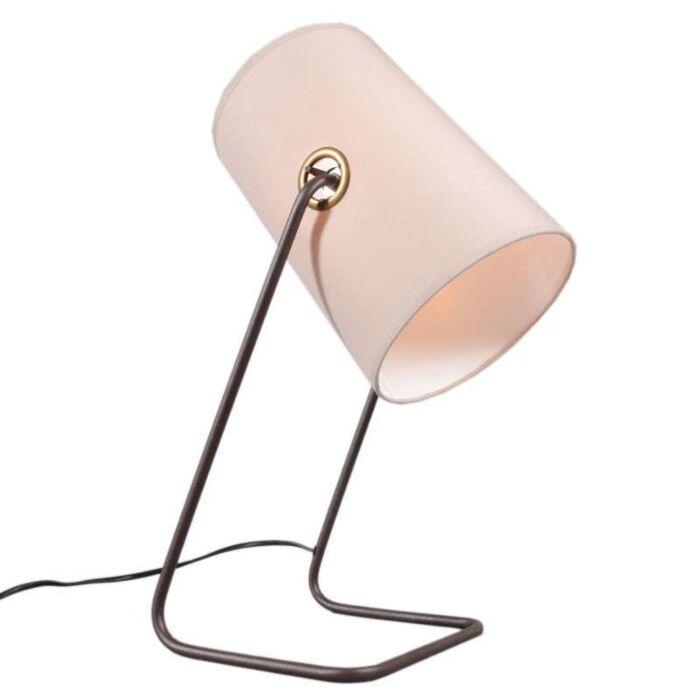 Lámpara-de-mesa-BENZINA-taupe/-marrón