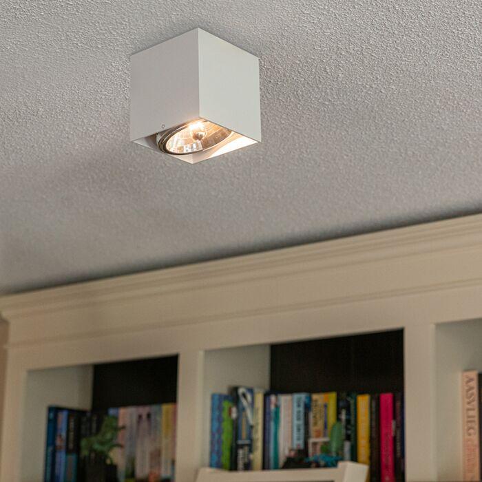 Foco-diseño-cuadrado-blanco-1-luz---BOX