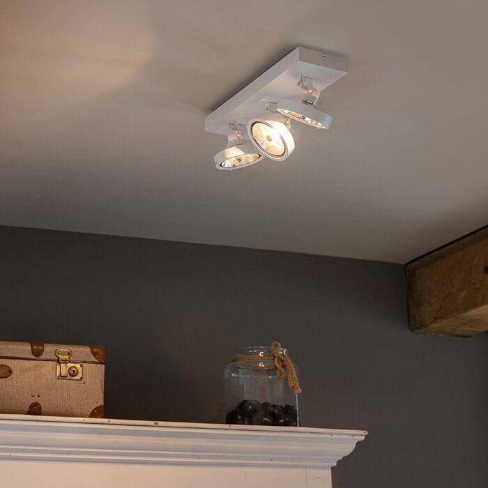 Plafón-diseño-blanco-orientable-3-luces-LED---GO
