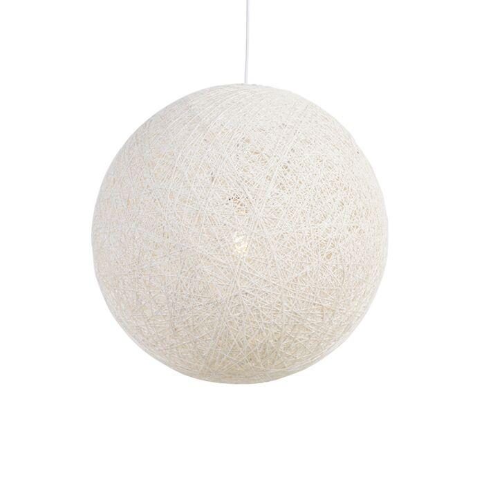 Lámpara-colgante-rústica-blanca-60cm---CORDA
