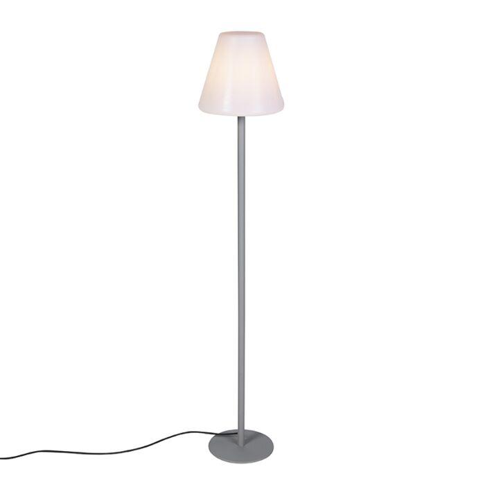 Lámpara-de-pie-moderna-gris-IP65---VIRGINIA