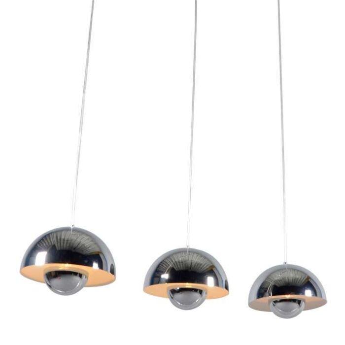 Lámpara-colgante-ELX-3-cromo