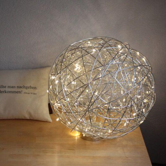 Lámpara-de-pie-DRAHT-bola-40cm-LED-aluminio