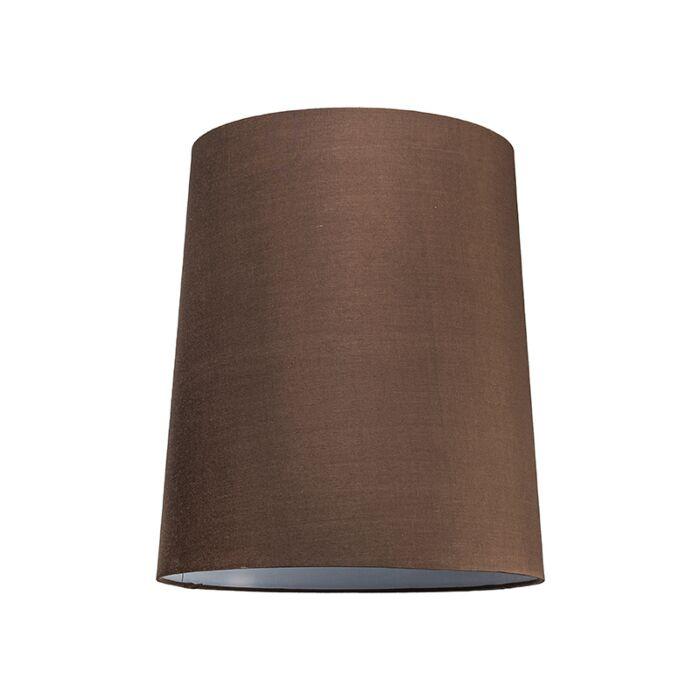 Pantalla-para-lámpara-colgante-35cm-cónica-SU-E27-marrón