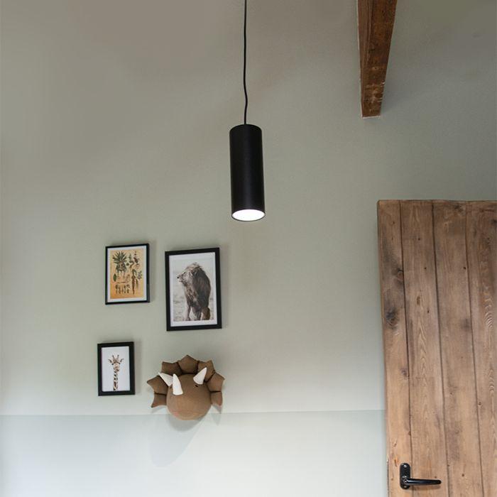 Lámpara-colgante-diseño-negra---TUBO