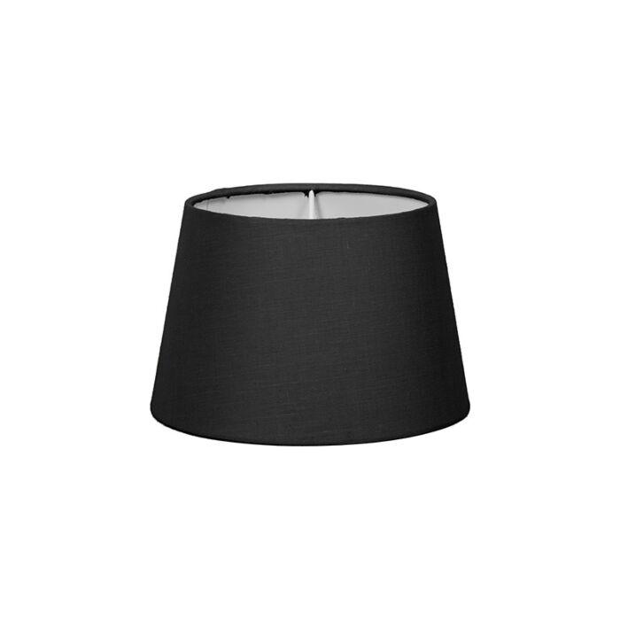 Pantalla-para-lámpara-mesa/aplique-18cm-cónica-SD-E27-negra