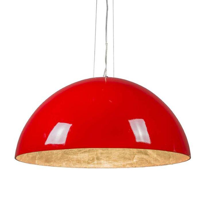 Lámpara-colgante-MAGNA-Glossy-70cm-rojo-y-plata