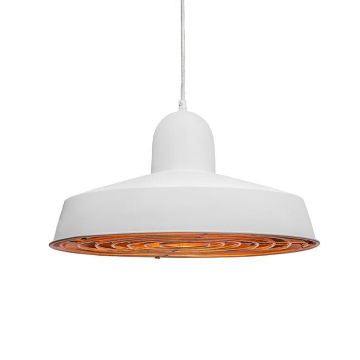 Lámpara-colgante-STRIJP-Deluxe-blanco-y-cobre