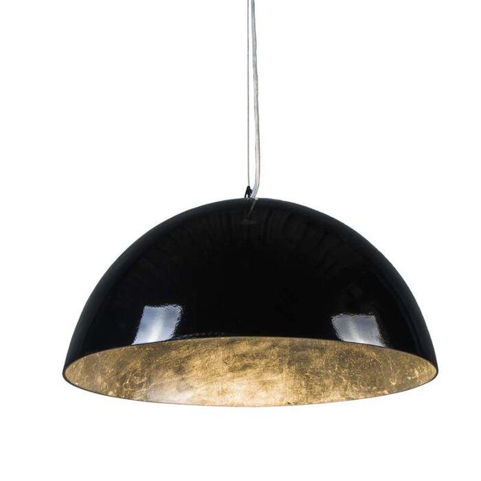Lámpara-colgante-MAGNA-Glossy-55cm-negro-y-plata