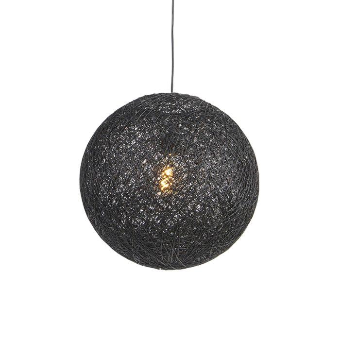 Lámpara-colgante-negra-45cm---CORDA