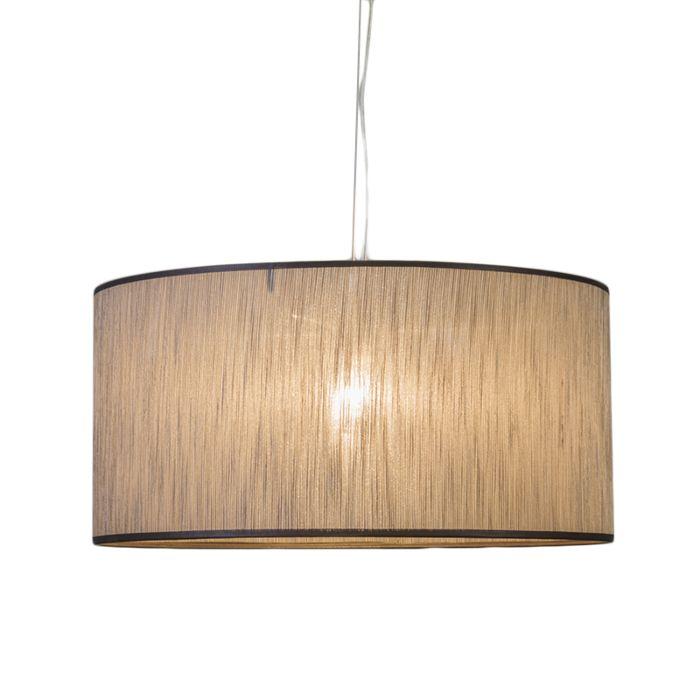 Lámpara-colgante-CAPPO-1-marrón-mezcla-con-pantalla