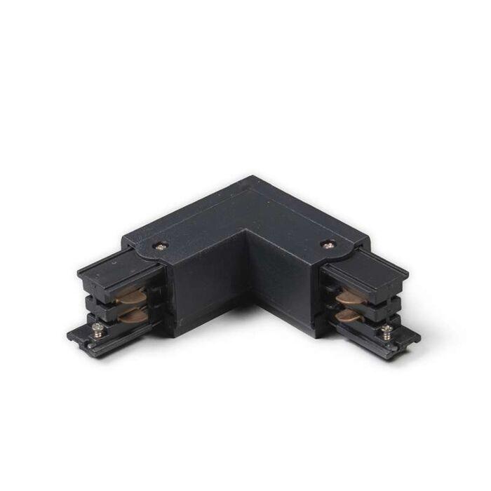 Conector-L-izquierda-para-riel/carril-trifásico-negro