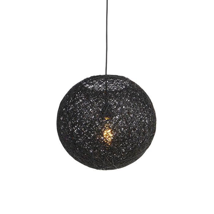 Lámpara-colgante-negra-35cm---CORDA