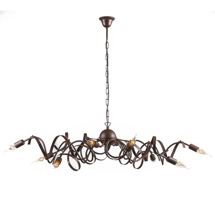 Lámpara-colgante-rústica-marrón-10-luces---RICCIOLO