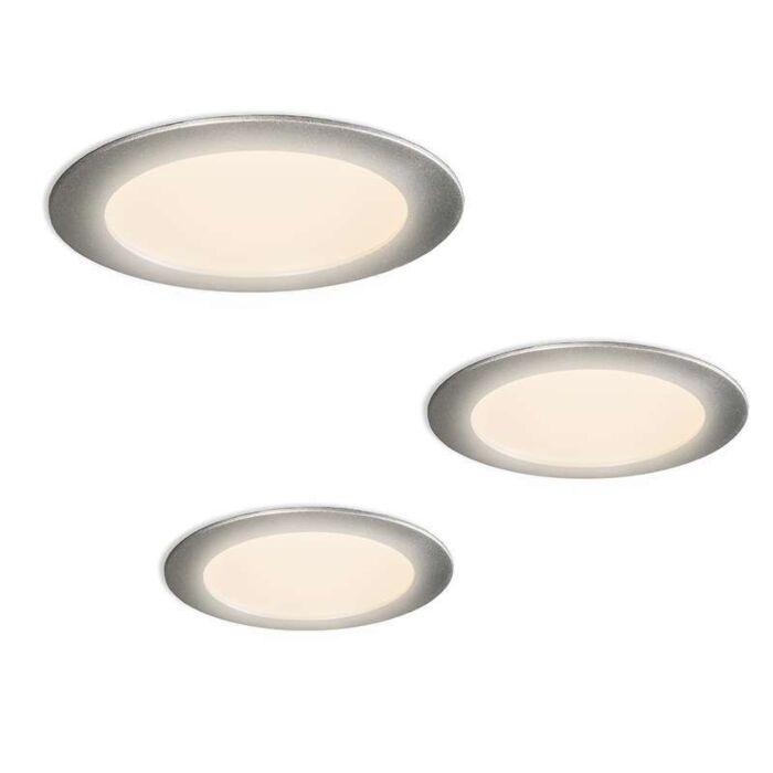 Juego-de-3-focos-LED-RADEM-gris