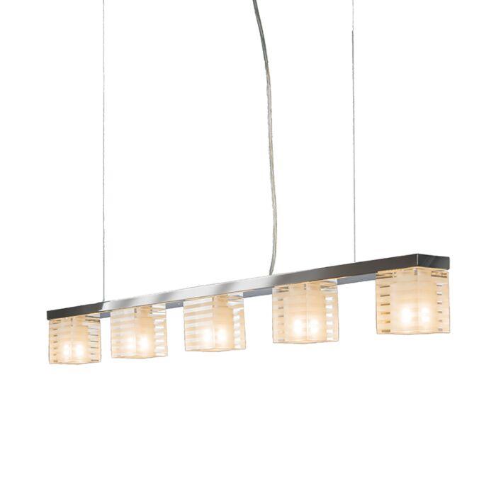 Lámpara-colgante-DICE-5-cristal-transparente