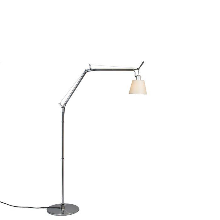 Lámpara-de-pie-ajustable---ARTEMIDE-Tolomeo-Basculante-terra