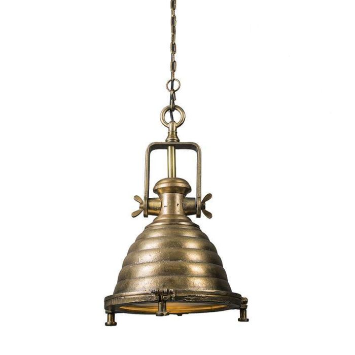 Lámpara-de-colgante-Fort-Raw-M-bronce-envejecido