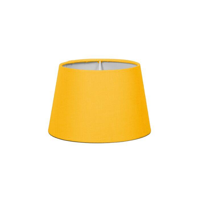 Pantalla-para-lámpara-mesa/aplique-18cm-cónica-SD-E27-amarilla