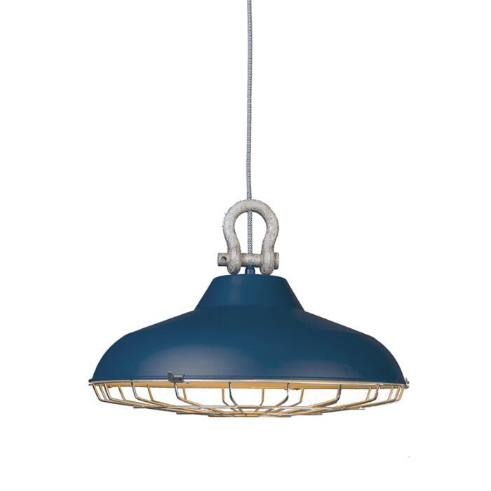Lámpara-colgante-STRIJP-azul-mate