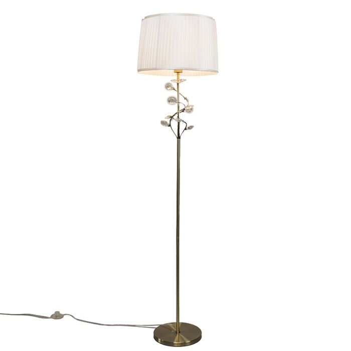 Lámpara-de-pie-RUFFLE-bronce-envejecido