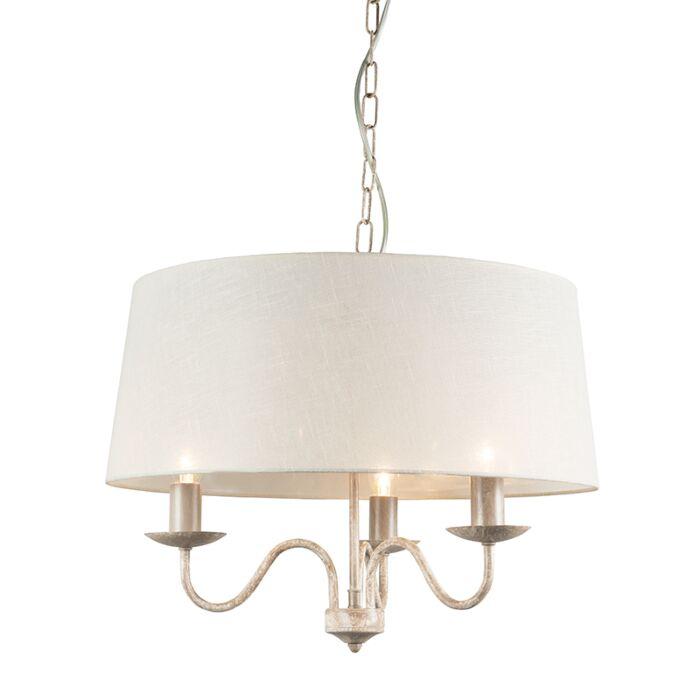 Lámpara-de-araña-SOPRANO-3-con-pantalla-blanca