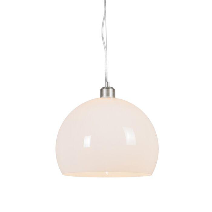 Lámpara-colgante-redonda-moderna-opal-blanco---GLOBE