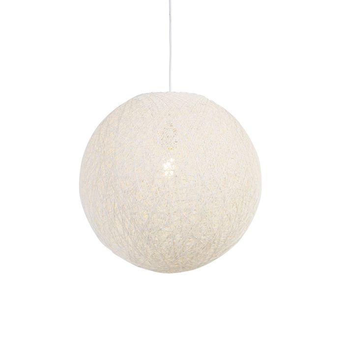 Lámpara-colgante-rústica-blanca-45cm---CORDA