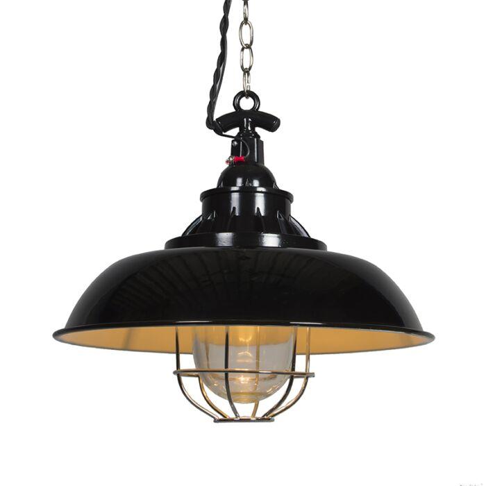 Lámpara-colgante-STRIJP-S-negra