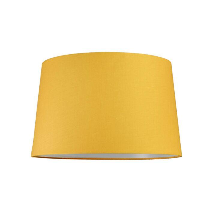 Pantalla-para-lámpara-colgante-40cm-cónica-SU-E27-amarilla