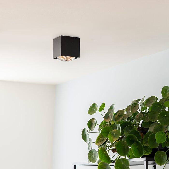 Foco-diseño-cuadrado-negro-1-luz---BOX