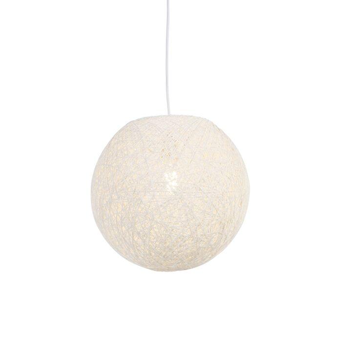 Lámpara-colgante-rústica-blanca-35cm---CORDA