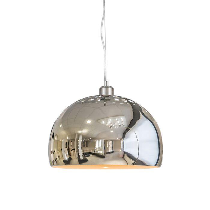 Lámpara-colgante-GLOBE-33cm-cromo
