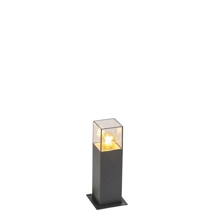 Baliza-moderna-30cm-antracita-IP44---DENMARK